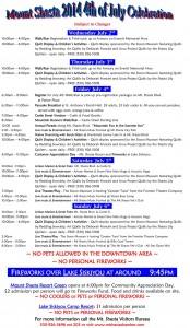 MtShastaJuly4thSchedule-2014